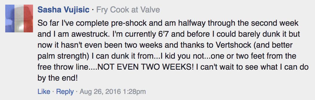 vert shock testimonial